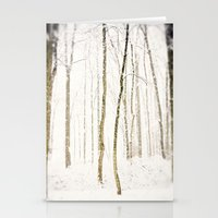 Snowy Trail Stationery Cards