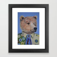 Grizzly Scout Framed Art Print