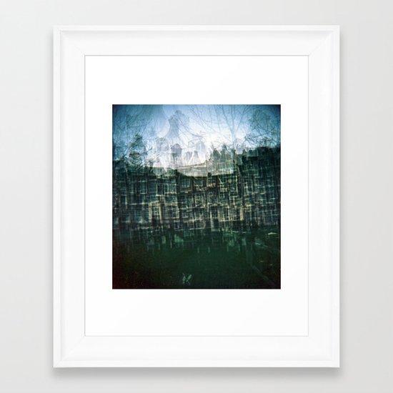 Amsterdam Multiple Exposure Framed Art Print
