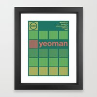 yeoman single hop Framed Art Print