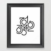 Numeric Framed Art Print