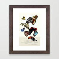 Butterfly Wings Framed Art Print