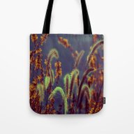 Tote Bag featuring Autumn Grassflower In Co… by Die Farbenfluesterin