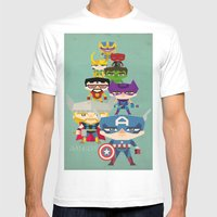 Avengers 2 Fan Art Mens Fitted Tee White SMALL