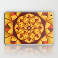 Golden geometric flourish Laptop & iPad Skin