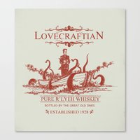 Lovecraftian Whiskey Canvas Print