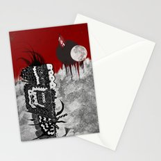 Man on fire Stationery Cards
