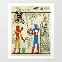 hero-glyphics: Avengers Art Print