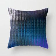 Retro Grid Nightclub Lig… Throw Pillow
