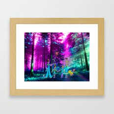 Walk in the forest Framed Art Print