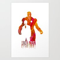 iron man Art Prints featuring Iron Man by Jon Hernandez