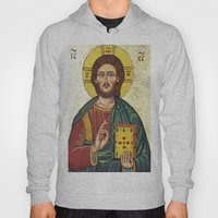 Icon of Jesus As Christ Pantocrator Hoody