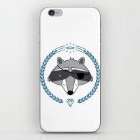 Mr. Raccoon iPhone & iPod Skin