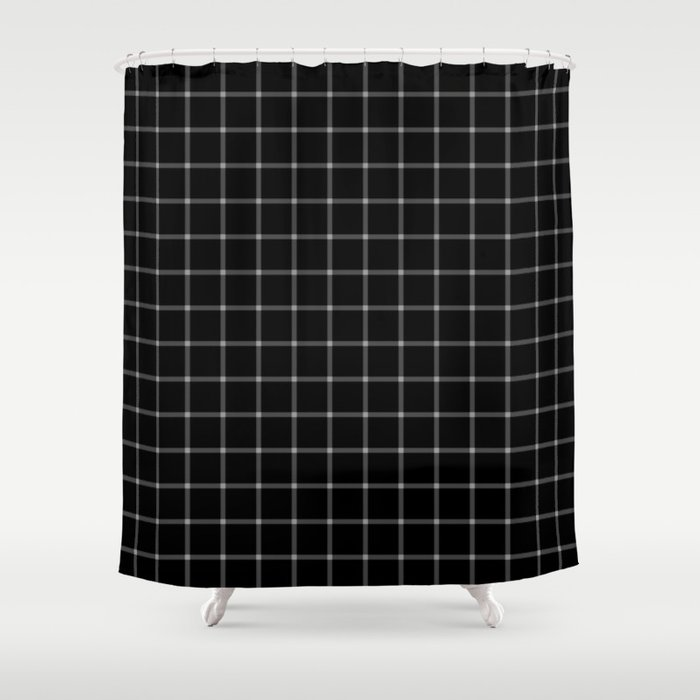 Mesmerising Black And White Plaid Pattern Shower Curtain By Wendy Townrow Society6