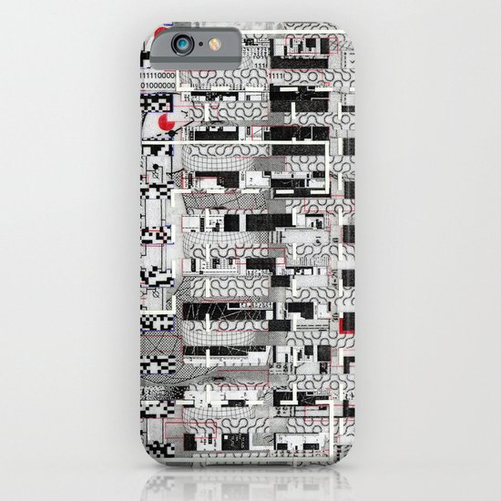 Opportunistic Species (P/D3 Glitch Collage Studies) iPhone & iPod Case