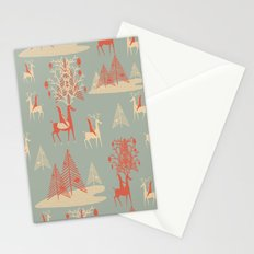 Reindeer, Trees and Elves Stationery Cards
