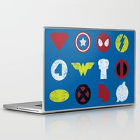 super heroes Laptop & iPad Skins featuring Super Simple Heroes by Resistance