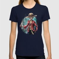 The King Of Pirates A Tr… Womens Fitted Tee Navy SMALL