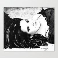 Chocolate lady Canvas Print