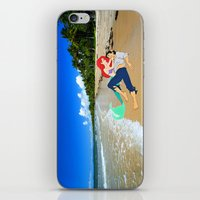 The Little Mermaid Ariel and Eric on the Beach iPhone & iPod Skin