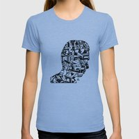 Self Portrait PM Womens Fitted Tee Athletic Blue SMALL