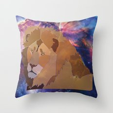 The Lion Is High Throw Pillow