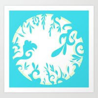 Abstractly Blue  Art Print