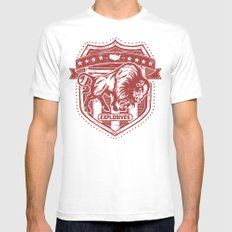 Buffalo Explosives Mens Fitted Tee White SMALL