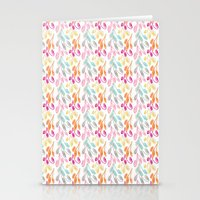 Smaller Colorful Swirls Stationery Cards