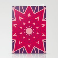 Geometric Star Mandala Stationery Cards