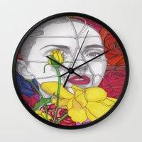 Flower Girl Wall Clock