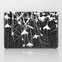 white wildflowers iPad Case