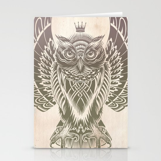 Silent Flight (Owl Wings) Stationery Card