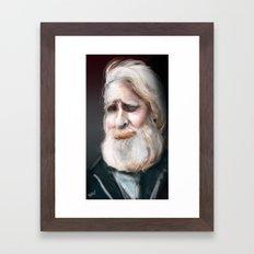 The Sad Captain Framed Art Print
