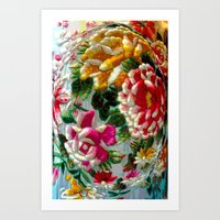 Chintz Egg Art Print