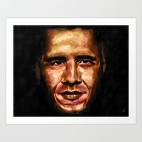 obama Art Prints featuring Obama by Tetevi Teteh