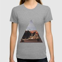 Cibeles Womens Fitted Tee Tri-Grey SMALL