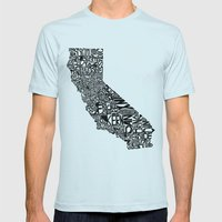 Typographic California Mens Fitted Tee Light Blue SMALL