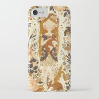 girl iPhone & iPod Cases featuring The Queen of Pentacles by Teagan White
