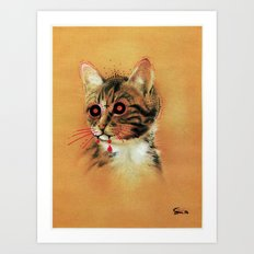Devil Katz Art Print