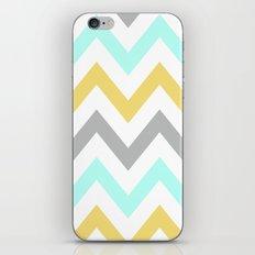 BLUE/GRAY/YELLOW CHEVRON iPhone & iPod Skin