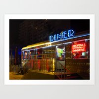 Diner Love Art Print