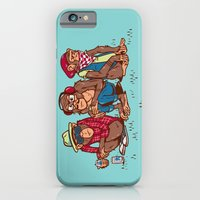 iPhone & iPod Case featuring Three Wise Hipster Monkeys by Ben Douglass