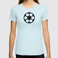 Football - Balls Serie Womens Fitted Tee Light Blue SMALL