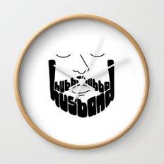 Hubba Hubba Hussband Wall Clock