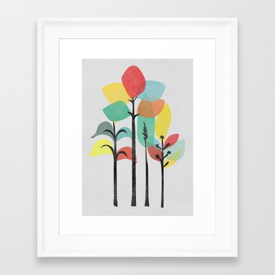 Tropical Groove (gray) Framed Art Print