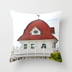 Beach Hut (I) Throw Pillow