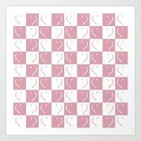 Heart Pattern Art Print