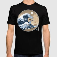 The Great Wave of Republic City Black Mens Fitted Tee SMALL