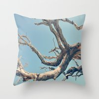 Driftwood Ladder Throw Pillow